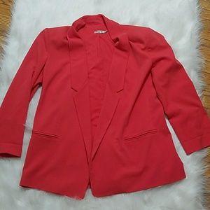 Eliza J pink long blazer